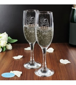 Me To You Engraved Wedding Flutes x 2