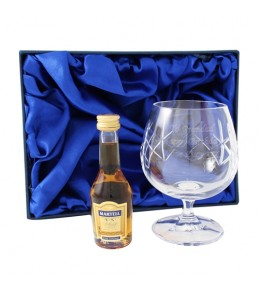 Engraved Crystal Glass & Brandy Gift Set