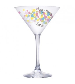 Personalised Birthday Balloons Cocktail Glass