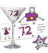 Personalised Purple Ronnie Cocktail Glass - Elder Female