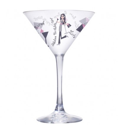 Personalised Fabulous Birthday Girl Cocktail Glass