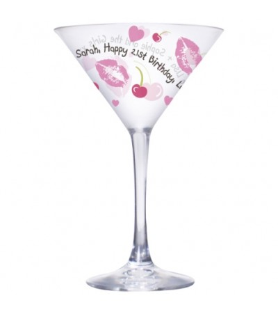 Personalised Lips & Cherry Cocktail Glass