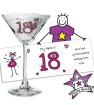 Personalised Purple Ronnie Cocktail Glass - Young Female