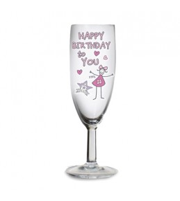 Personalised Birthday Flute Glass