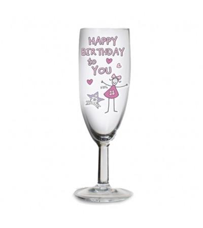 Personalised Birthday Flute Glass