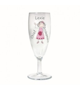 Personalised Young Lady Wedding Flute