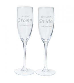 Pair of Personalised Celebration Flutes