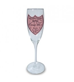 Personalised Champagne Label Flute Glass