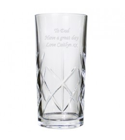 Engraved Crystal Hi-Ball Glass