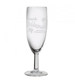 Personalised Elegance Flute Glass