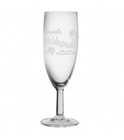 Personalised Elegance Flute Glass