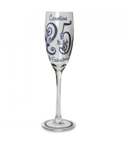 Personalised Fabulous Age Flute Glass