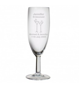 Personalised Flutes Wedding Flute Glass