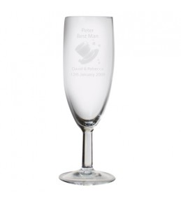 Personalised Hats Wedding Flute Glass