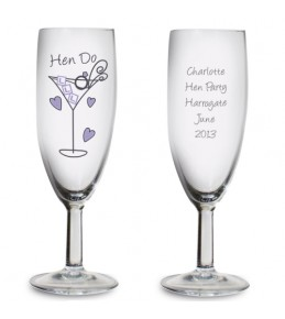 Personalised Hen Do Toast Glass