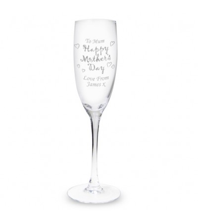 Personalised Mother's Day Flute Glass
