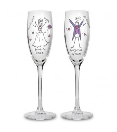 Personalised Mr & Mrs Purple Ronnie Flutes
