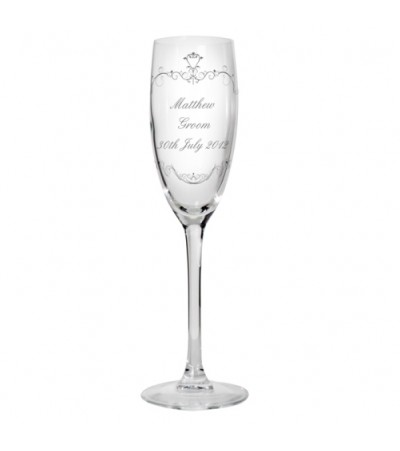 Personalised Ornate Swirls Flute