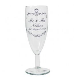 Personalised Ornate Swirls Toast Glass