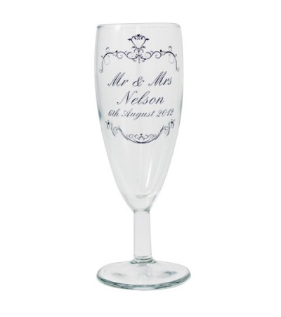 Personalised Ornate Swirls Toast Glass