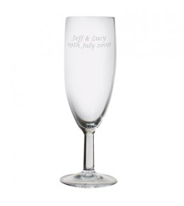 Engraved Traditional Toasting Flute Glass