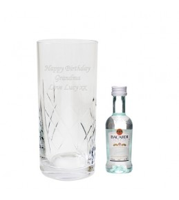 Personalised Crystal Bacardi Set