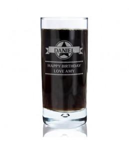 Personalised Diamond Hi Ball Glass