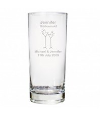 Personalised Flutes Wedding Hi Ball Glass