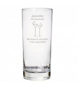 Personalised Flutes Wedding Hi Ball Glass