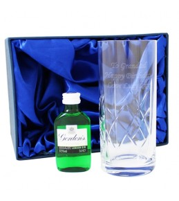 Personalised Crystal Gin Set