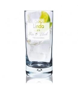 Personalised Gin O'Clock Hi Ball Glass