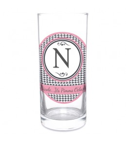 Personalised Houndstooth Hi-Ball Glass
