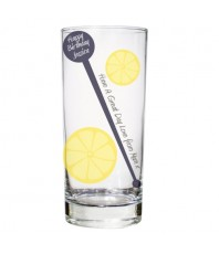 Personalised Lemon & Stirrer Glass