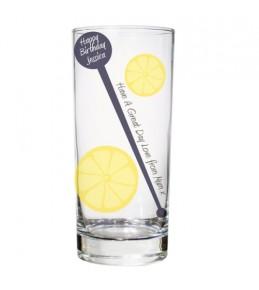 Personalised Lemon & Stirrer Glass