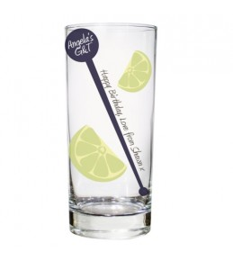 Personalised Lime & Stirrer Glass