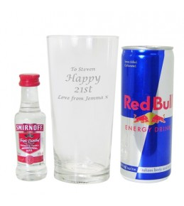 Personalised Vodka & Redbull Gift Set