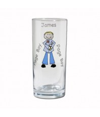 Personalised Cartoon Wedding Hi Ball Glass