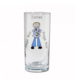 Personalised Cartoon Wedding Hi Ball Glass