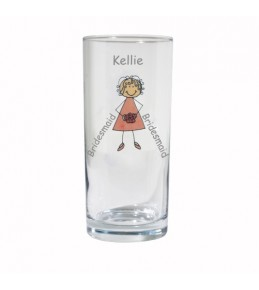 Personalised Young Lady Wedding Hi Ball Glass