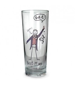 Personalised Best Man Glass