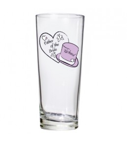 Personalised Butterfly Hearts Pilsner Glass