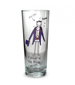 Personalised Father of the Bride Glass