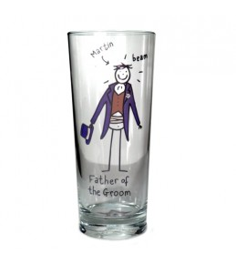 Personalised Father of the Groom Glass