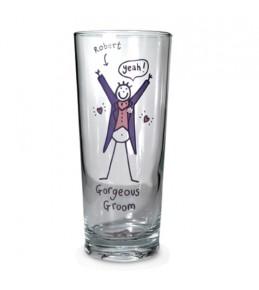 Personalised Groom Glass