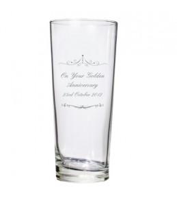 Personalised Ornate Swirls Pilsner Glass