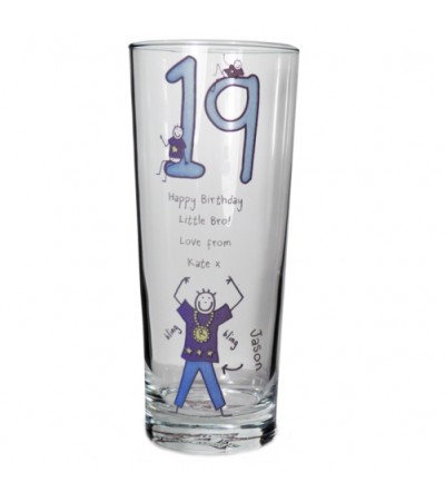 Personalised Purple Ronnie Pilsner Glass - Young Male