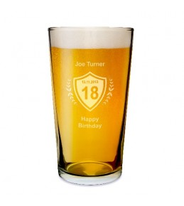 Personalised Age Pint Glass