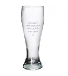 Personalised Big Lager Glass
