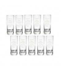 Personalised Engraved Shot Glass 10 Pack