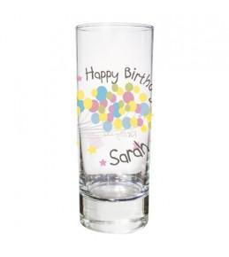 Personalised Birthday Balloons Shot Glass